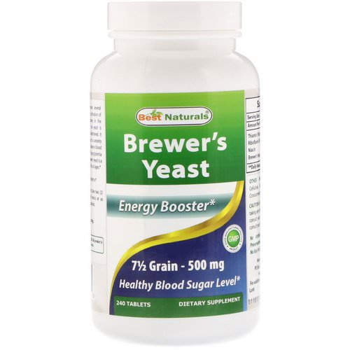 Best Naturals, Brewer's Yeast, 500 mg, 240 Tablets فوائد