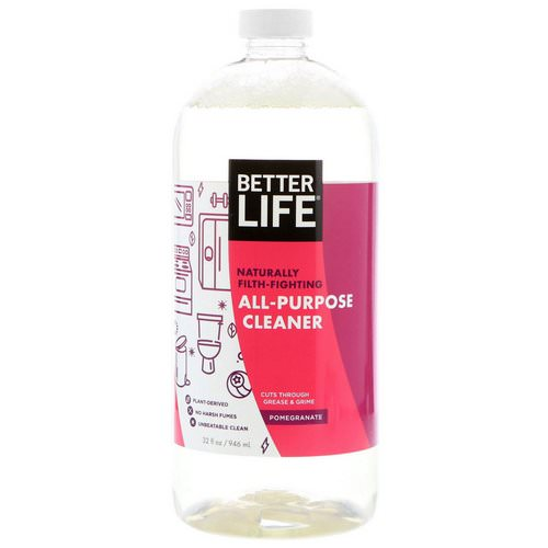Better Life, All-Purpose Cleaner, Pomegranate, 32 fl oz (946 ml) فوائد