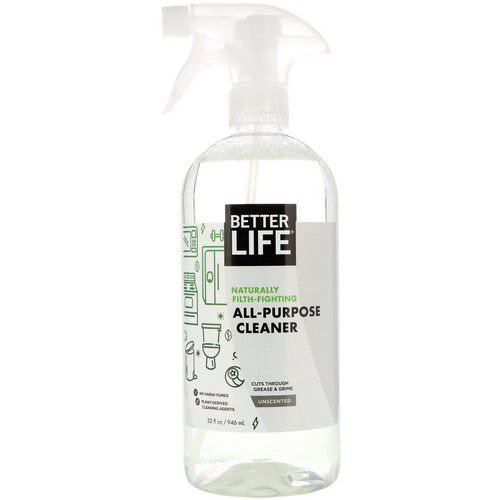 Better Life, All-Purpose Cleaner, Unscented, 32 fl oz (946 ml) فوائد