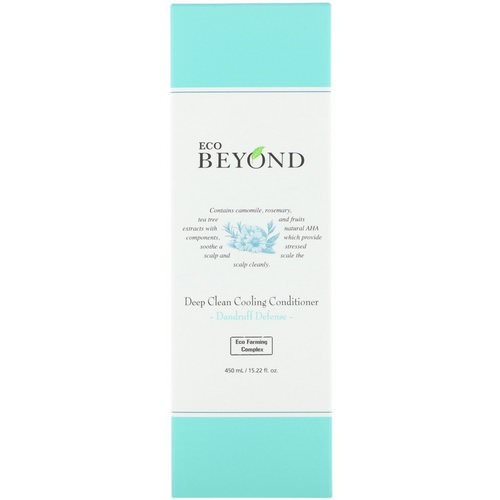 Beyond, Deep Clean Cooling Conditioner, Dandruff Defense, 15.22 fl oz (450 ml) فوائد