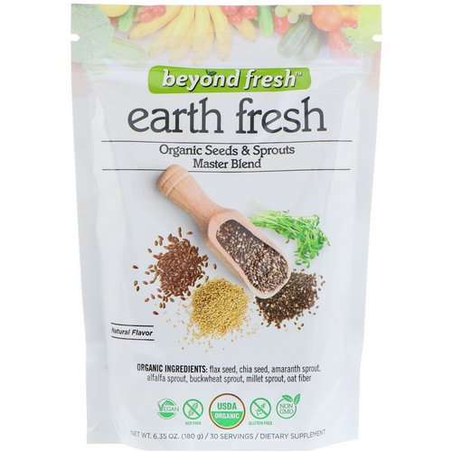 Beyond Fresh, Earth Fresh, Organic Seeds & Sprouts Master Blend, Natural Flavor, 6.35 oz (180 g) فوائد