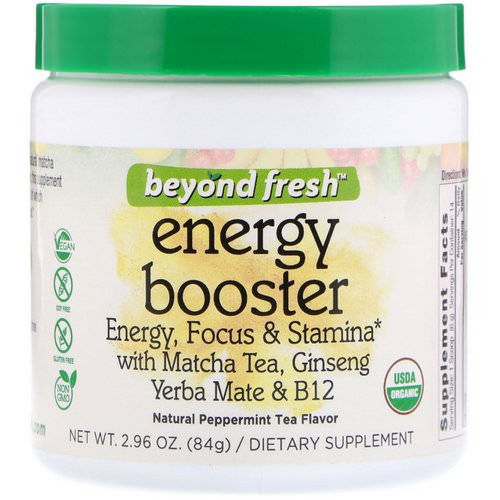 Beyond Fresh, Energy Booster, Energy, Focus & Stamina, Natural Peppermint Tea Flavor, 2.96 oz (84 g) فوائد