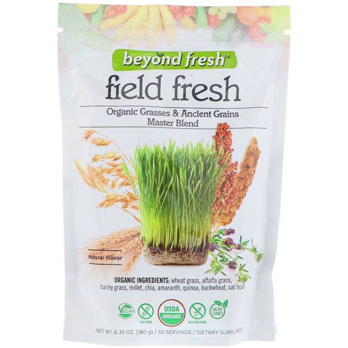 Beyond Fresh, Field Fresh, Organic Grasses & Ancient Grains Master Blend, Natural Flavor, 6.35 oz (180 g) فوائد