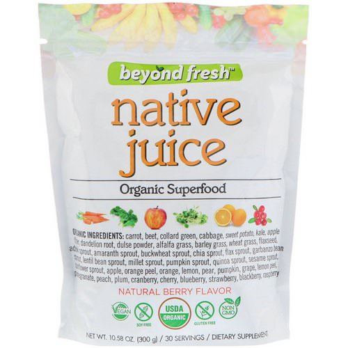 Beyond Fresh, Native Juice, Organic Superfood, Natural Berry Flavor, 10.58 oz (300 g) فوائد
