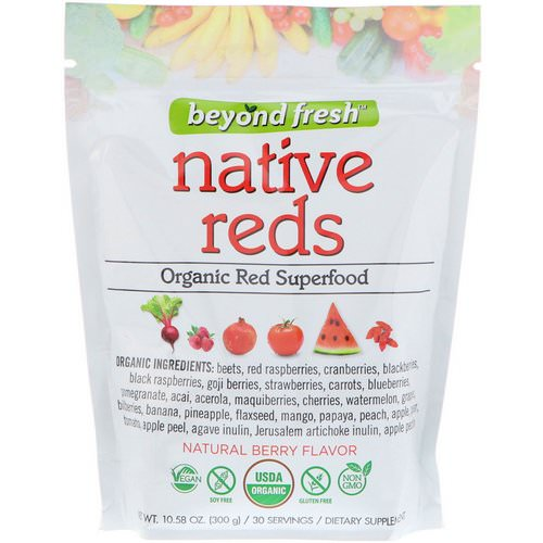 Beyond Fresh, Native Reds, Organic Red Superfood, Natural Berry Flavor, 10.58 oz (300 g) فوائد
