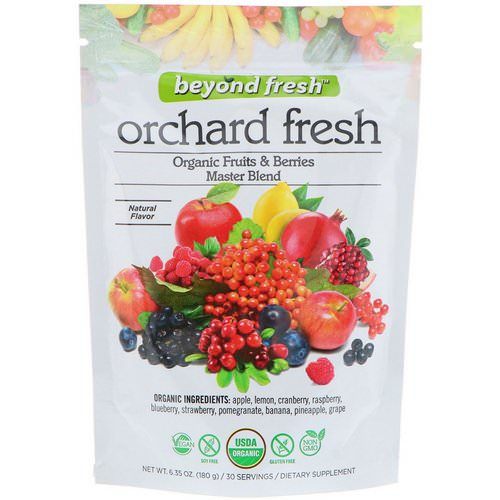 Beyond Fresh, Orchard Fresh, Organic Fruits & Berries Master Blend, Natural Flavor, 6.35 oz (180 g) فوائد