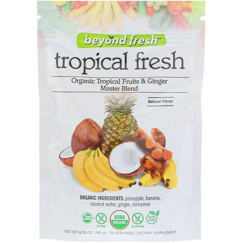 Beyond Fresh, Tropical Fresh, Organic Tropical Fruits & Ginger Master Blend, Natural Flavor, 6.35 oz (180 g) فوائد