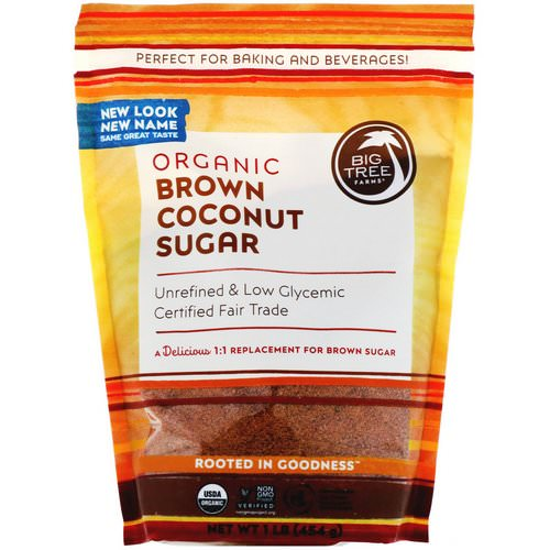 Big Tree Farms, Organic Brown Coconut Sugar, 1 lb (454 g) فوائد
