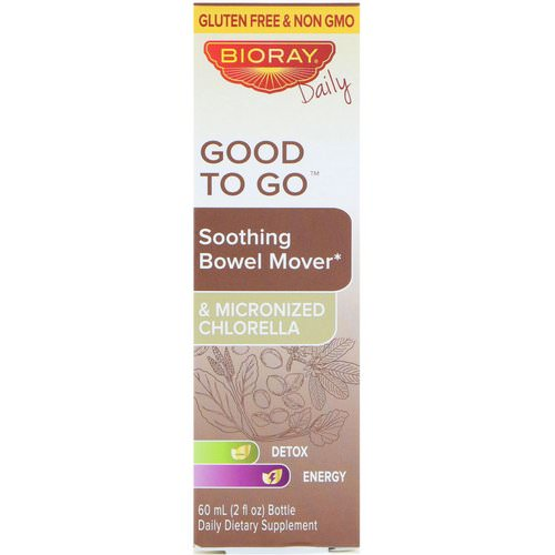 Bioray, Good To Go, Soothing Bowel Mover, 2 fl oz (60 ml) فوائد