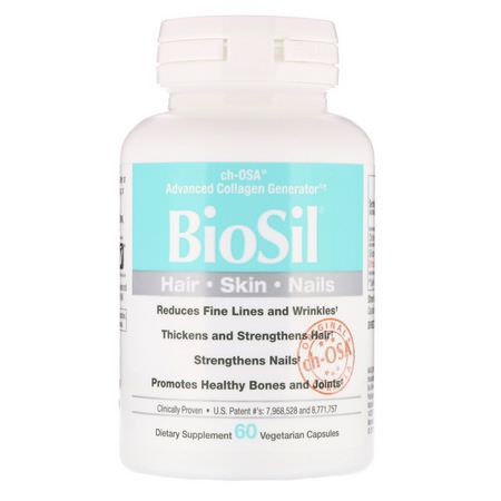 BioSil by Natural Factors Silica Hair Skin Nails Formulas - الأظافر, الجلد, الشعر, السيليكا