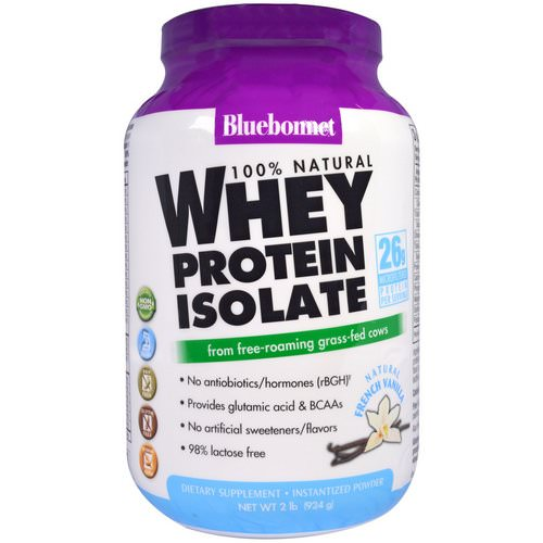 Bluebonnet Nutrition, 100% Natural Whey Protein Isolate, Natural French Vanilla, 2 lbs (924 g) فوائد