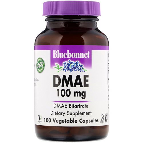 Bluebonnet Nutrition, DMAE, 100 mg, 100 Vegetable Capsules فوائد