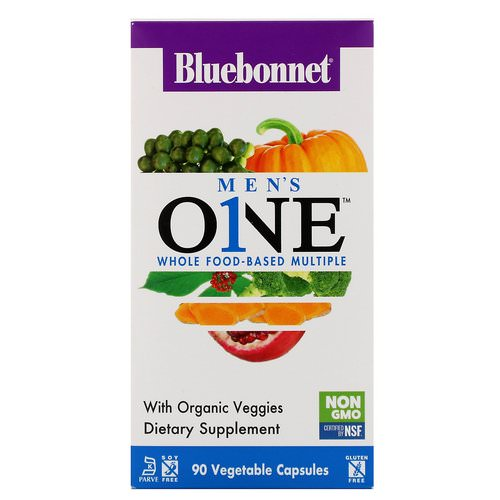 Bluebonnet Nutrition, Men's ONE, Whole Food-Based Multiple, 90 Vegetable Capsules فوائد