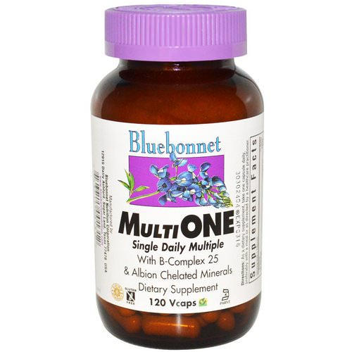 Bluebonnet Nutrition, Multi One, Single Daily Multiple, 120 Vcaps فوائد