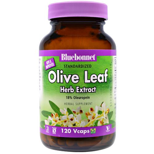 Bluebonnet Nutrition, Olive Leaf, Herb Extract, 120 Veggie Caps فوائد