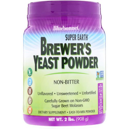 Bluebonnet Nutrition, Super Earth Brewer's Yeast, Unflavored, 2 lb (908 g) فوائد