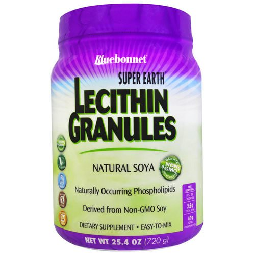 Bluebonnet Nutrition, Super Earth, Lecithin Granules, 1.6 lbs (720 g) فوائد