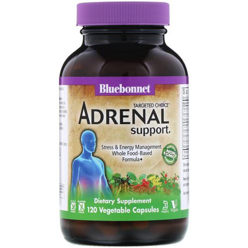 Bluebonnet Nutrition, Targeted Choice, Adrenal Support, 120 Vegetable Capsules فوائد