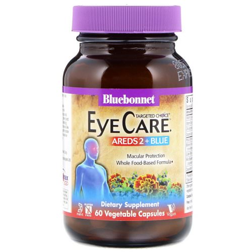 Bluebonnet Nutrition, Targeted Choice, Eye Care, 60 Vegetable Capsules فوائد