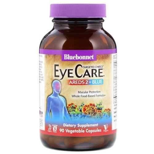 Bluebonnet Nutrition, Targeted Choice, Eye Care, 90 Vegetable Capsules فوائد