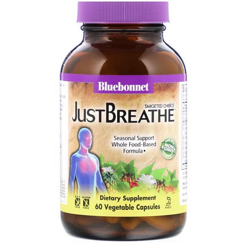 Bluebonnet Nutrition, Targeted Choice, JustBreathe, 60 Vegetable Capsules فوائد