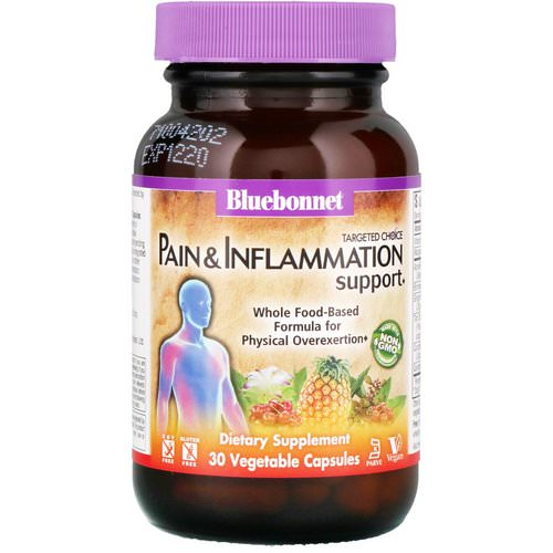 Bluebonnet Nutrition, Targeted Choice, Pain & Inflammation Support, 30 Vegetable Capsules فوائد