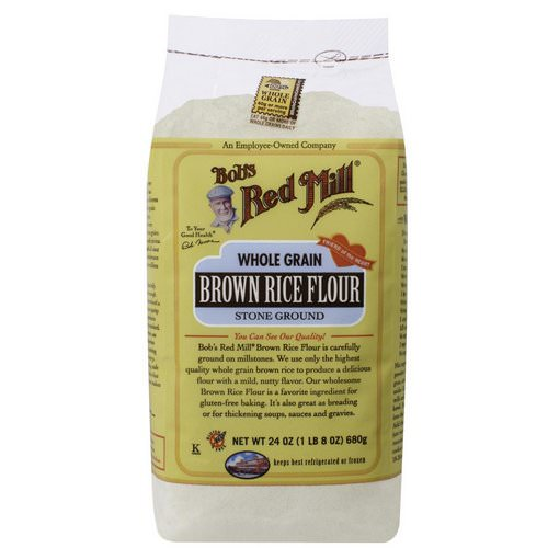 Bob's Red Mill, Brown Rice Flour, Whole Grain, 24 oz (680 g) فوائد