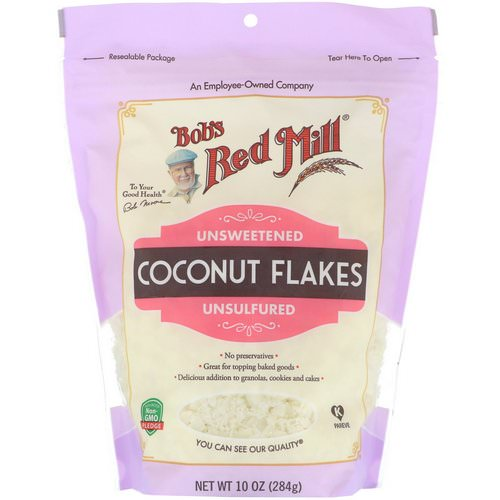 Bob's Red Mill, Coconut Flakes, Unsweetened, Unsulfured, 10 oz (284 g) فوائد