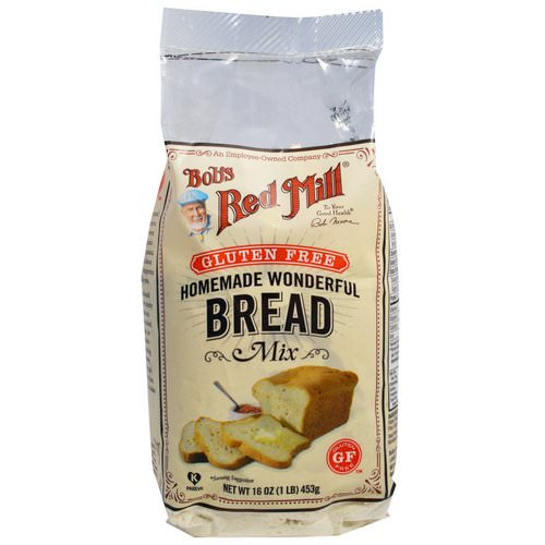 Bob's Red Mill, Homemade Wonderful Bread Mix, Gluten Free, 16 oz (453 g) فوائد