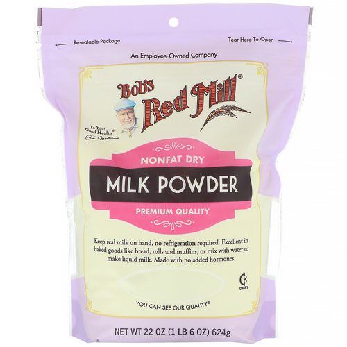 Bob's Red Mill, Milk Powder, Nonfat Dry, 22 oz (624 g) فوائد