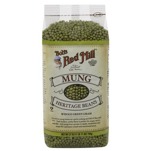 Bob's Red Mill, Mung, Heritage Beans, 1.7 lbs (765 g) فوائد