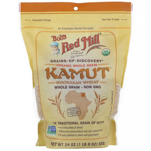 Bob's Red Mill, Organic Kamut, Whole Grain, 24 oz (680 g) فوائد