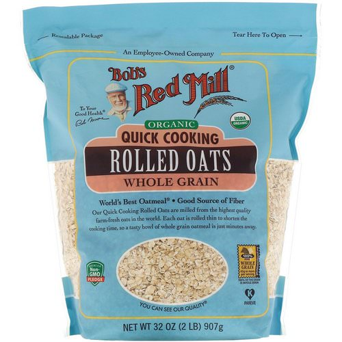 Bob's Red Mill, Organic, Quick Cooking Rolled Oats, Whole Grain, 32 oz (907 g) فوائد