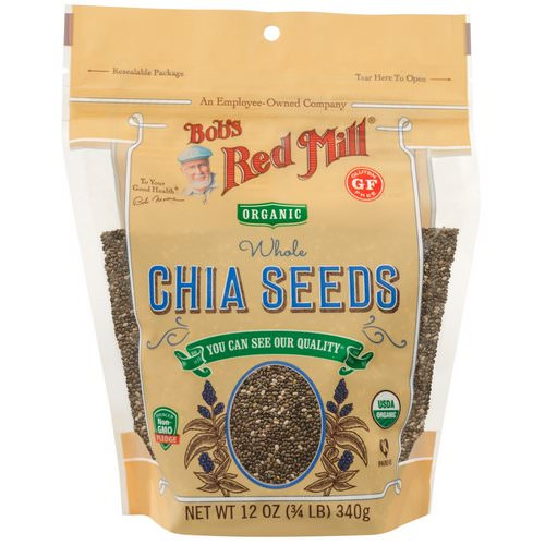 Bob's Red Mill, Organic Whole Chia Seeds, 12 oz (340 g) فوائد