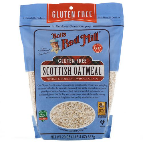 Bob's Red Mill, Scottish Oatmeal, Whole Grain, Gluten Free, 20 oz (567 g) فوائد