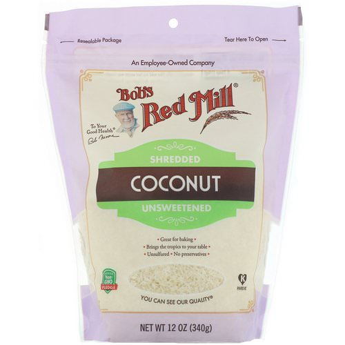 Bob's Red Mill, Shredded Coconut, Unsweetened, 12 oz (340 g) فوائد