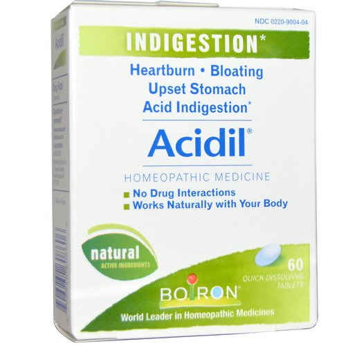 Boiron, Acidil, Indigestion, 60 Quick-Dissolving Tablets فوائد