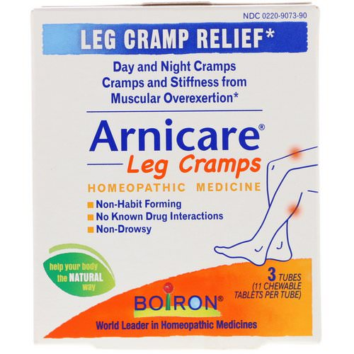 Boiron, Arnicare Leg Cramps, 3 Tubes, 11 Chewable Tablets Per Tube فوائد