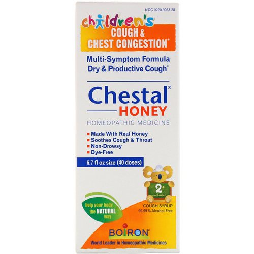 Boiron, Chestal Honey, Children's Cough & Chest Congestion, 6.7 fl oz فوائد