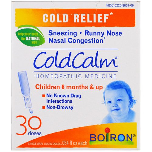 Boiron, ColdCalm, 30 Oral Liquid Doses, .034 fl oz Each فوائد