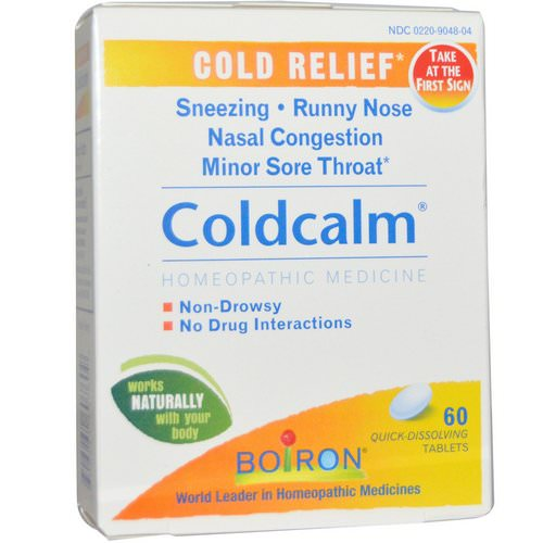 Boiron, Coldcalm, 60 Quick-Dissolving Tablets فوائد