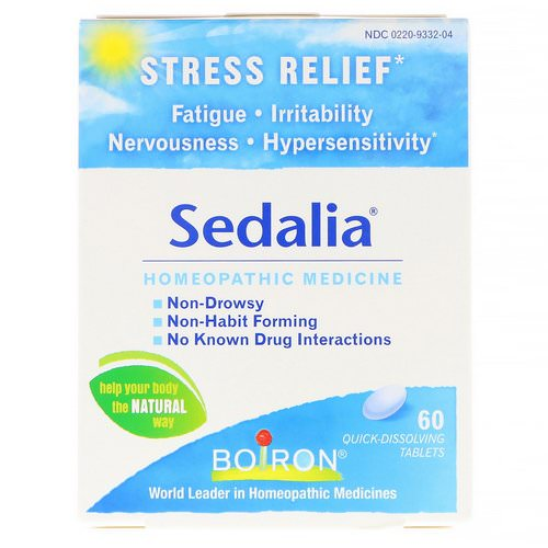 Boiron, Sedalia, Stress Relief, 60 Quick-Dissolving Tablets فوائد