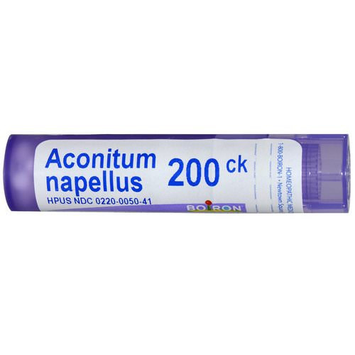 Boiron, Single Remedies, Aconitum Napellus, 200CK, Approx 80 Pellets فوائد