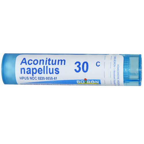 Boiron, Single Remedies, Aconitum Napellus, 30C, Approx 80 Pellets فوائد