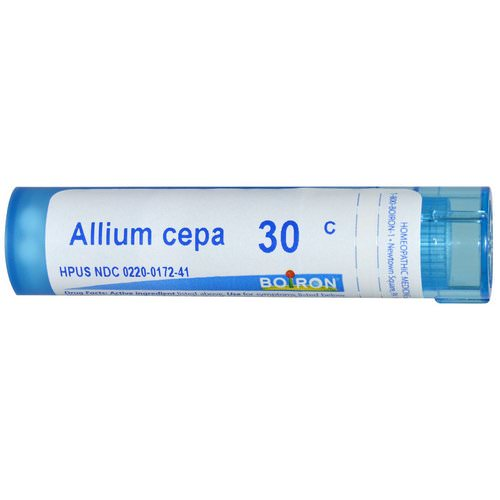 Boiron, Single Remedies, Allium Cepa, 30C, Approx 80 Pellets فوائد