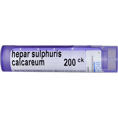 Boiron, Single Remedies, Hepar Sulphuris Calcareum, 200CK, Approx 80 Pellets فوائد