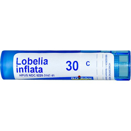 Boiron, Single Remedies, Lobelia Inflata, 30C, Approx 80 Pellets فوائد