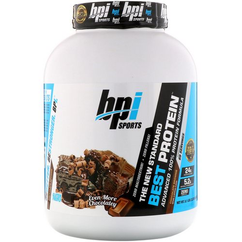 BPI Sports, Best Protein, Advanced 100% Protein Formula, Chocolate Brownie, 5.1 lbs (2,329 g) فوائد