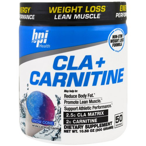 BPI Sports, CLA + Carnitine, Snow Cone, 10.58 oz (300 g) فوائد