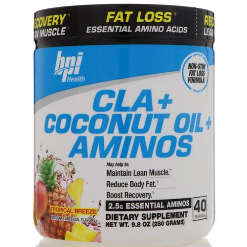 BPI Sports, CLA + Coconut Oil + Aminos, Tropical Breeze, 9.8 oz (280 g) فوائد